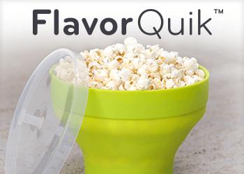 FlavorQuik Microwave Popcorn Popper